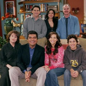 Valente Rodriguez, Aimee Garcia and Emiliano Diez (top row, from left); Belita Moreno, George Lopez, Constance Marie and Luis Armand Garcia (bottom row, from left)