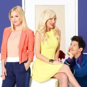 Jennie Garth, Tori Spelling and Miguel Pinzon (from left)