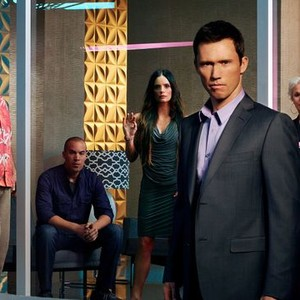 Bruce Campbell, Coby Bell, Gabrielle Anwar, Jeffrey Donovan and Sharon Gless (from left)