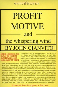 Profit Motive & the Whispering Wind
