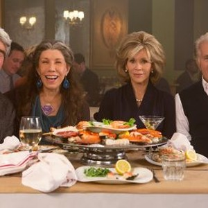 Sam Waterston, Lily Tomlin, Jane Fonda and Martin Sheen (from left)