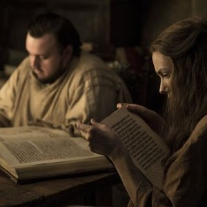 John Bradley as Samwell Tarly and Hannah Murray as Gilly (Helen Sloan/HBO)