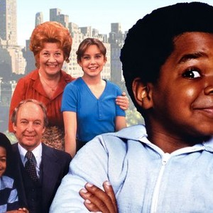 Charlotte Rae and Dana Plato (back row); Conrad Brian and Todd Bridges (middle row); Gary Coleman (front).