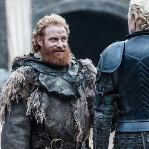 Kristofer Hivju as Tormund Giantsbane and Gwendoline Christie as Brienne of Tarth (Helen Sloan/HBO)