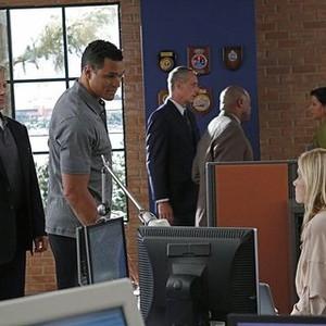 NCIS, Season 12: Mark Harmon, Tony Gonzalez and Emily Wickersham