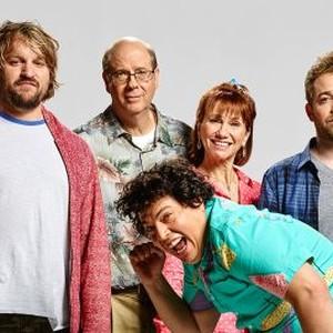 Lenny Jacobson, Stephen Tobolowsky, Jon Bass, Kathy Baker and Alex Anfanger (from left)