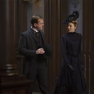 Jeremy Bobb as Herman Barrow and Juliet Rylance as Cornelia Robertson in season one of <em>The Knick</em>.