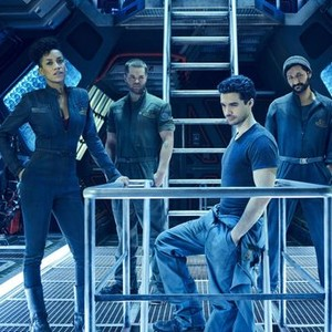 Dominique Tipper, Wes Chatham, Steven Strait and Cas Anvar (from left)