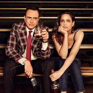Hank Azaria (left) and Amanda Peet