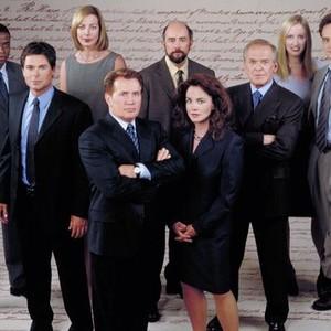 Dule Hill, Rob Lowe, Allison Janney, Martin Sheen, Richard Schiff, Stockard Channing, John Spencer, Janel Maloney and Bradley Whitford (from left)
