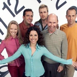 Juia Louis-Dreyfus, Lauren Bowles, Steve Carell , Darren Boyd, Peter Stormare and Don Lake (clockwise from center)