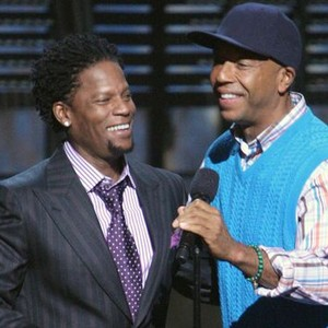 D.L. Hughley (left) and Russell Simmons