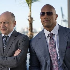 Rob Corddry and Dwayne Johnson (from left)