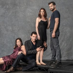 Maura Tierney, Dominic West, Ruth Wilson, and Joshua Jackson (from left)