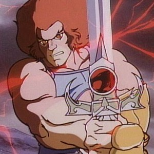 Lion-O is voiced by Larry Kenney