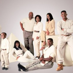 Joseph Marcell, Ross Bagley, Tatyana Ali, James Avery, Daphne Reid, Kayrn Parsons, Alfonso Ribeiro and Will Smith (from left)