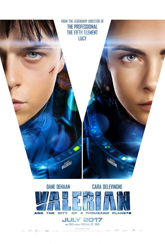 Poster film Valerian and the City of a Thousand Planets.