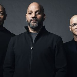 Dr. Dre, Allen Hughes, Jimmy Iovine (from left)