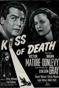 Kiss of death Victor Mature vintage movie poster