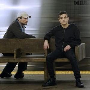 Christian Slater (left) and Rami Malek