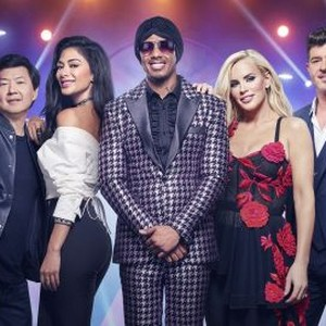Ken Jeong, Nicole Scherzinger, Nick Cannon, Jenny McCarthy and Robin Thicke (from left)