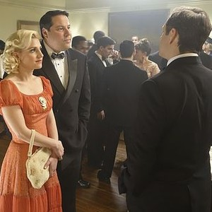 Masters of Sex (season 2, episode 1): Annaleigh Ashford as Betty, Greg Grunberg as Gene Moretti and Michael Sheen as Dr. William Masters