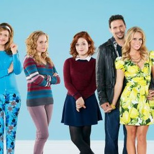 Chris Parnell, Ana Gasteyer, Allie Grant, Jane Levy, Jeremy Sisto, Cheryl Hines and Carly Chaikin (from left)