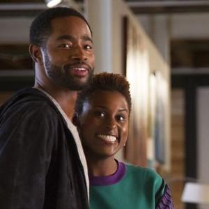 Jay Ellis (left) and Issa Rae