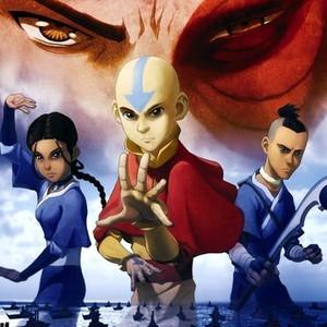 Katara, Aang and Sokka (from left)