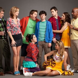 Larry Poindexter, Beth Littleford, Jareb Dauplaise, Paul Iacono, Jayson Blair, Ciena Rae and Marlon Young (top row, from left); Kara Taitz (left) and Amber Lancaster (bottom row)