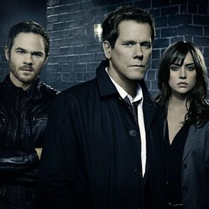 Shawn Ashmore, Kevin Bacon and Jessica Stroup (from left)