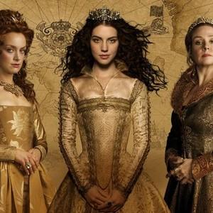 Rachel Skarsten, Adelaide Kane and Megan Follows (from left)