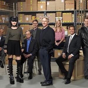 Rocky Carroll, Pauley Perrette, David McCallum, Brian Dietzen, Mark Harmon, Emily Wickersham, Michael Weatherly and Sean Murray (from left)