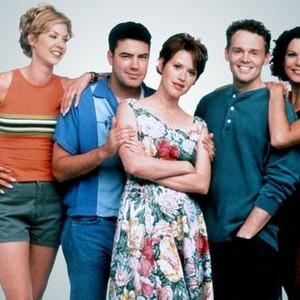 Jenna Elfman, Ron Livingston, Molly Ringwald, Billy Burr and Lauren Graham (from left)