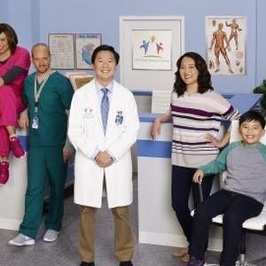 Dave Foley, Tisha Campbell-Martin, Jonathan Slavin, Ken Jeong, Suzy Nakamura, Albert Tsai and Krista Marie Yu (from left)