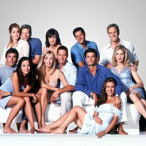 Jamie Luner, Jack Wagner, Lisa Rinna, Thomas Calabro and Linden Ashby (top row, from left), Andrew Shue, Rena Sofer, Heather Locklear, Rob Estes, David Charvet and Kelly Rutherford (middle row, from left), Alyssa Milano (bottom row)