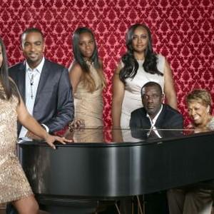 Bobbi Kristina Brown, Nick Gordon, Rayah Houston, Pat Houston, Gary Houston and Cissy Houston (from left)