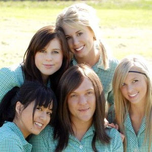 Nichole Tan, Jessica Featherby, Kristie Coade, Alicia Banit and Chris Lilley (clockwise, from bottom left)