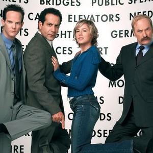 Jason Gray-Stanford, Tony Shalhoub, Traylor Howard and Ted Levine (from left)