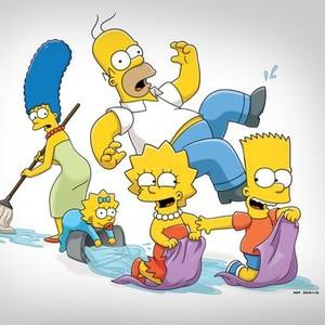 "Marjorie Bouvier Simpson, Maggie Simpson, Homer J. Simpson, Lisa Marie Simpson and Bartholomew Jo-Jo ""Bart"" Simpson (from left)"