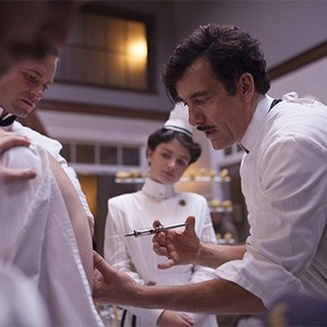 Eric Johnson, Eve Hewson, and Clive Owen in season one of <em>The Knick</em>.