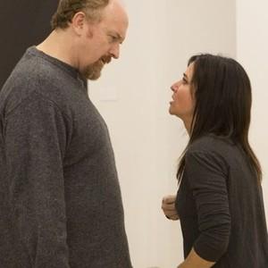 Pictured: (L-R) Louis C.K. as Louie, Pamela Adlon as Pamela. CR: KC Bailey/FX