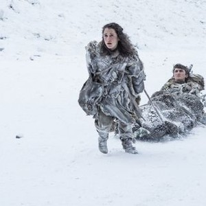 Ellie Kendrick as Meera Reed and Isaac Hempstead Wright as Bran Stark (Helen Sloan/HBO)