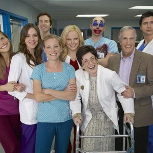 Rob Huebel, Rob Corddry and Ken Marino (top row, from left); Lake Bell, Erinn Hayes, Malin Akerman and Henry Winkler (middle row, from left); Zandy Hartig (left) and Megan Mullally (bottom row)