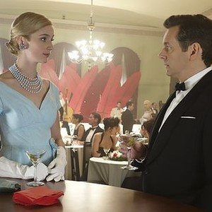 Masters of Sex (season 2, episode 1): Caitlin Fitzgerald as Libby Masters and Michael Sheen