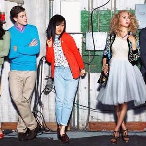 Katie Findlay, Brendan Dooling, Ellen Wong, AnnaSophia Robb, Austin Butler, and Freema Agyeman (from left)