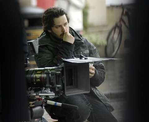 Dir. Edgar Wright on set of HOT FUZZ