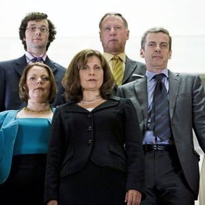 Chris Addison, Joanna Scanlan, Rebecca Front, James Smith and Peter Capaldi (from left)