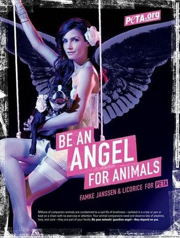 Famke in PETA ad!!!
