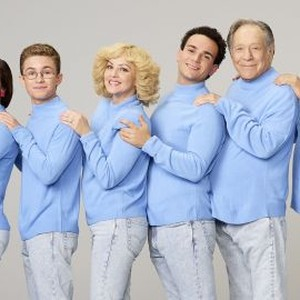 Hayley Orrantia, Sean Giambrone, Wendi McLendon-Covey, Troy Gentile, George Segal and Jeff Garlin (from left)
